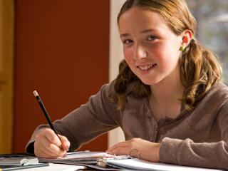 Student solving teaching exercises